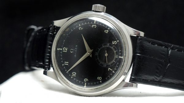 Omega 37mm Oversize Jumbo Genuine black dial