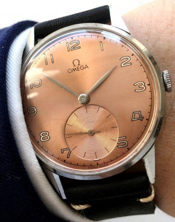 37.5mm Omega Oversize rosa dial 30t2 vintage