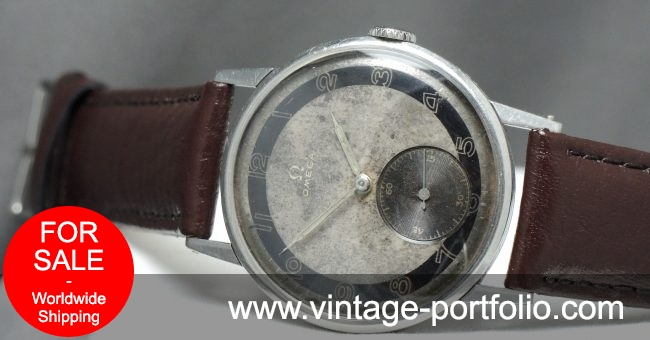Top 37mm Omega Oversize 30t2 Jumbo Watch with two tone dial