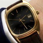 Omega Seamaster Quarz Quartz black honeycomb dial vintage