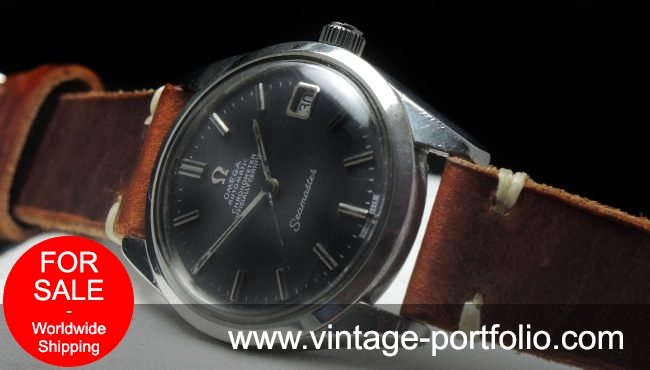 Serviced Omega Seamaster Automatik Automatic black dial Vintage