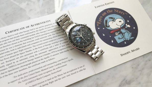 Seltene Omega Speedmaster Moonwatch Snoopy Award FULL SET