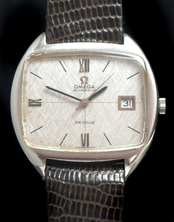 Serviced Oversize Jumbo Omega Automatic De Ville with linen dial