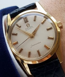 Perfect Omega Seamaster Automatic Solid Gold Date 14ct