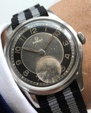 Amazing Omega Souverän Militar black-grey two tone dial 1945