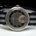 Omega Souverän Military black grey two tone dial 1945
