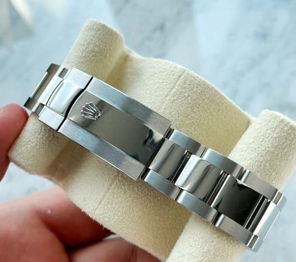 Blaues RIFFLE MOTIF TEXTURE JUBILEE Dial Rolex Datejust 36mm Automatik Stahl Box Papiere August 2021 126200
