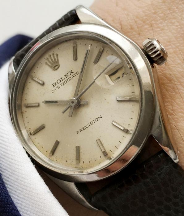 Original Rolex Oysterdate Precision Stahl mit Datum - 30mm Damen