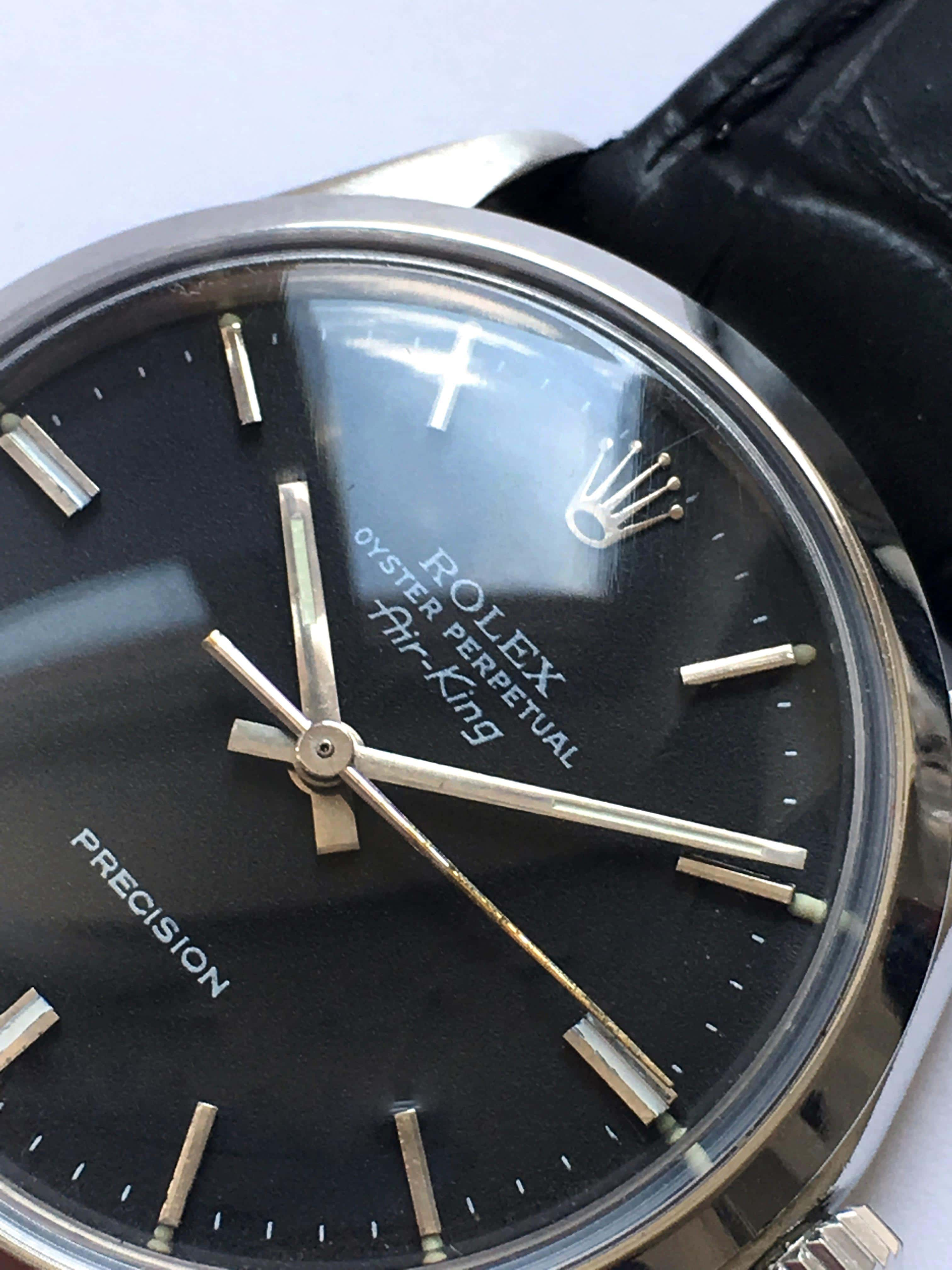 Serviced Rolex Air King Automatic black dial