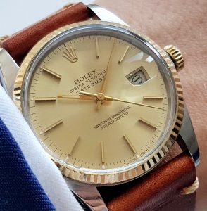 Serviced Rolex Datejust Automatic Steel Gold 36mm 16013