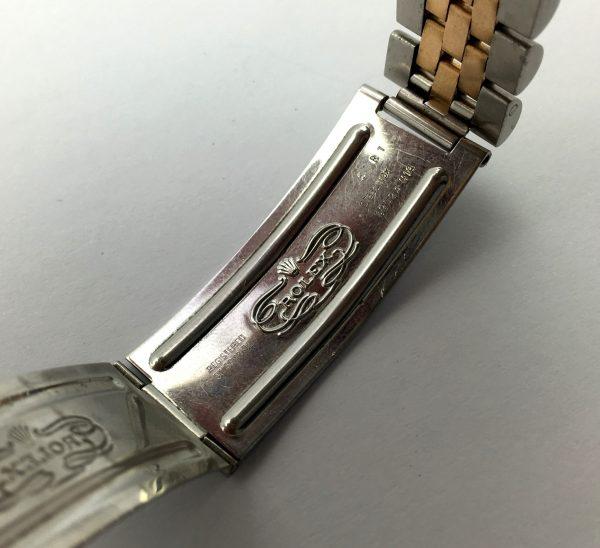 Super rare Rolex Datejust Steel Gold with blue Sunburst dial