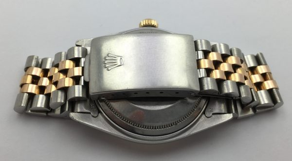 Super rare Rolex Datejust Steel Gold with blue Sunburst dial