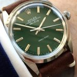 rolex vintage air king green dial 5500 (1)