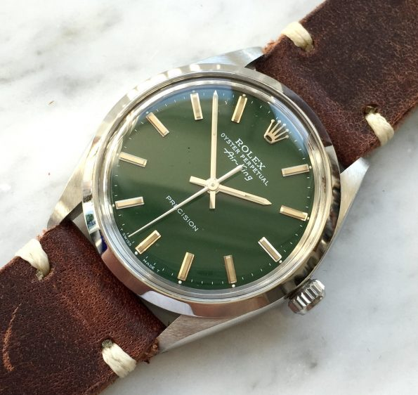 Serviced Rolex Air King Automatic wonderful green dial
