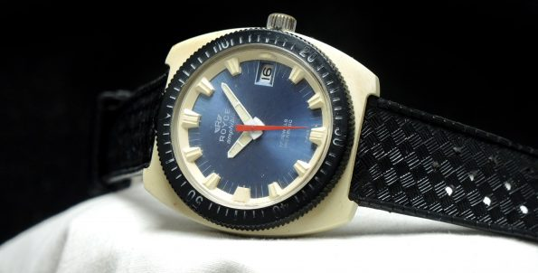 Pretty cool Royce Amphibian divers watch - blue dial white case black bezel