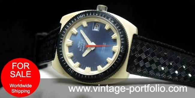 Pretty cool Royce Amphibian divers watch - blue dial white case black bezel