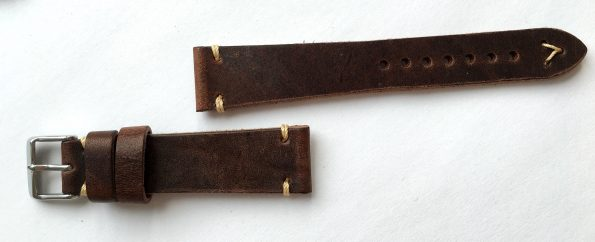 Wonderful 20mm Vintage Ecru Leather Straps, hand crafted