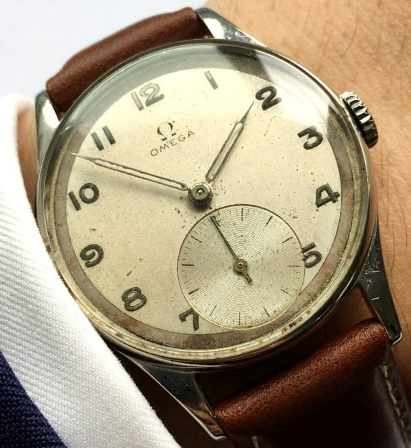 1950ties Omega Vintage Watch Steel 30t2