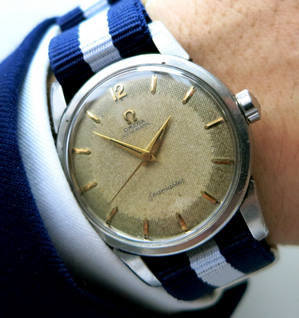 Omega Seamaster Automatic with Honeycomb dial