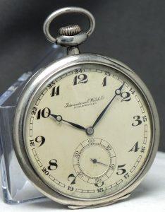 IWC Pocket Watch Vintage .900 Silver Taschenuhr Silber Breguet Numbers