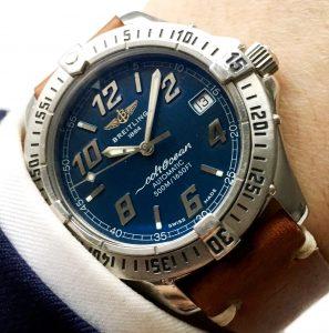 [:en]Great Breitling Superocean Automatic blue dial[:de]Tolle Breitling Superocean Automatik blauesZb[:]