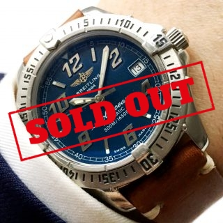 [:en]Great Breitling Coltocean Automatic blue dial[:de]Tolle Breitling Coltocean Automatik blaues Zb[:]