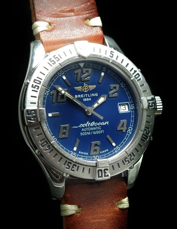 Great Breitling Superocean Automatic blue dial