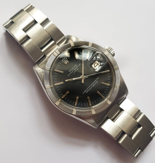 Mint Rolex Date Angel Turn Automatic blue dial