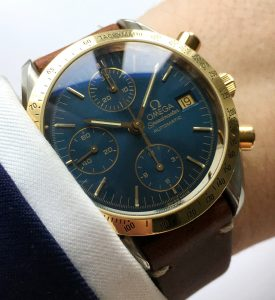 Rare Omega Speedmaster Reduced with blue dial
