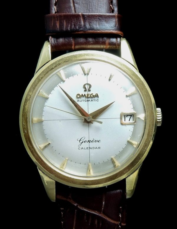 35mm Omega Geneve Calendar Automatic Solid Gold