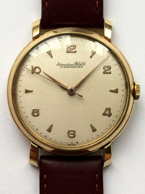 Amazing 36mm Vintage IWC in Sold Gold