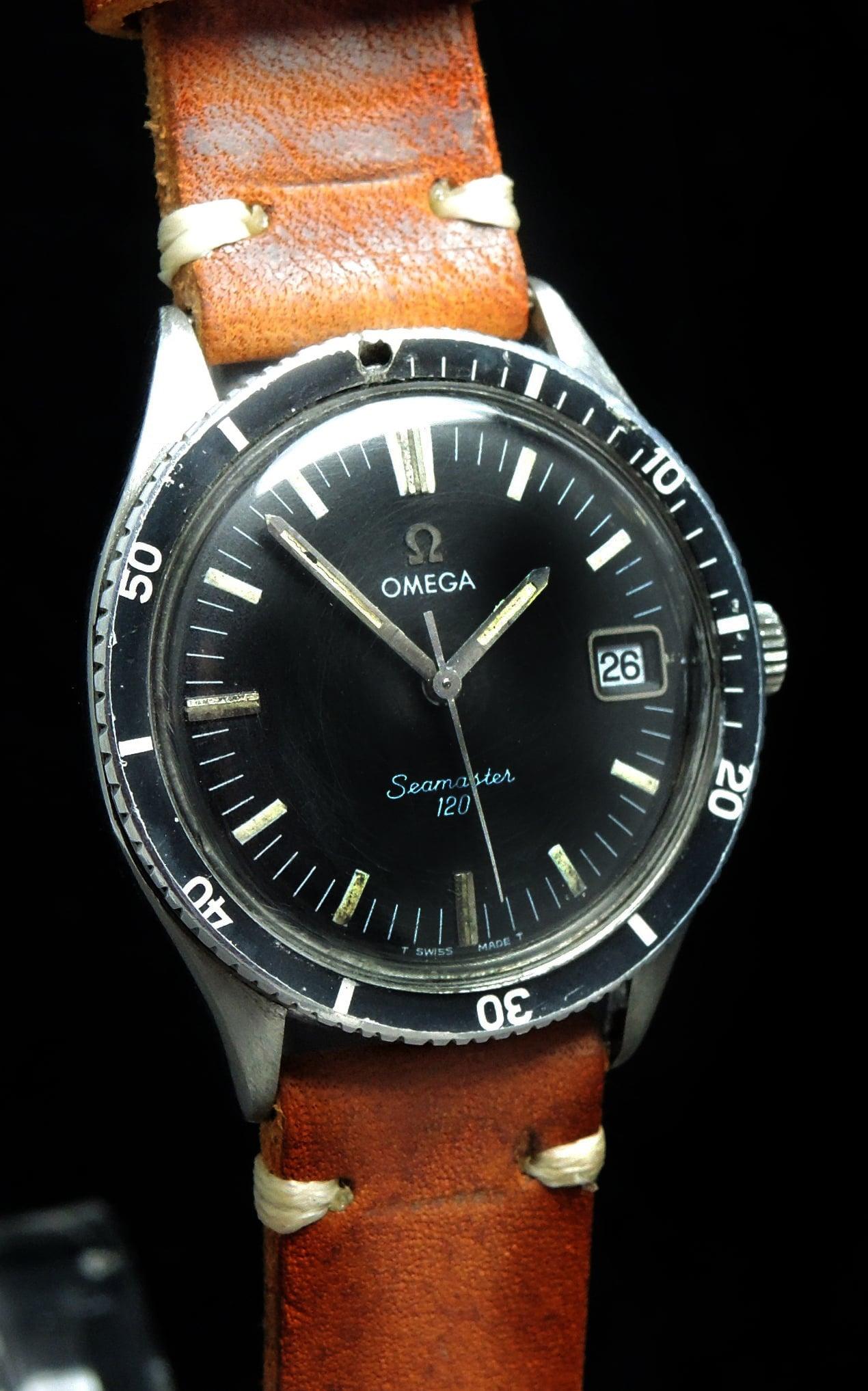 Original omega seamaster 120 vintage diver vintage portfolio for Omega diver