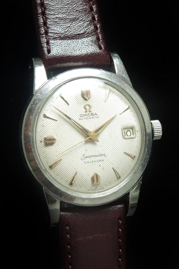 Unpolished Omega Seamaster Automatic Honeycomb Dial