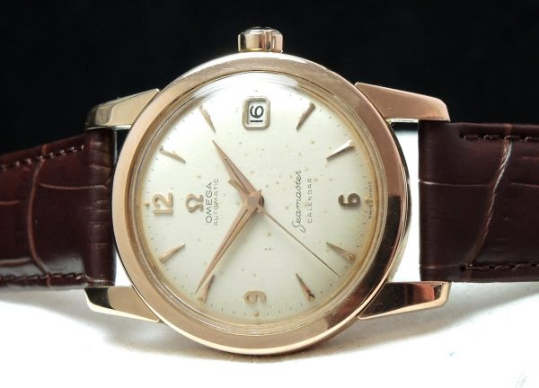 Serviced Rose Gold Omega Seamaster Automatic Calendar
