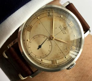 Serviced Omega Chronometer Vintage 36mm Steel 1945