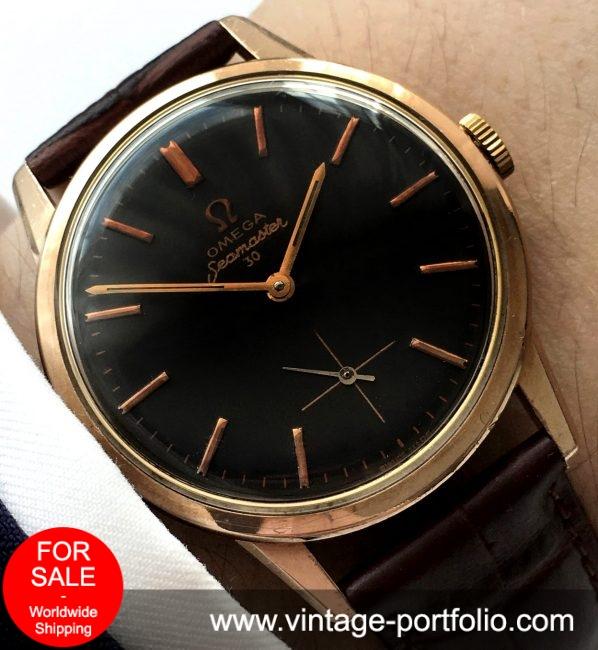 Pink gold plated Omega Seamaster 30 Vintage