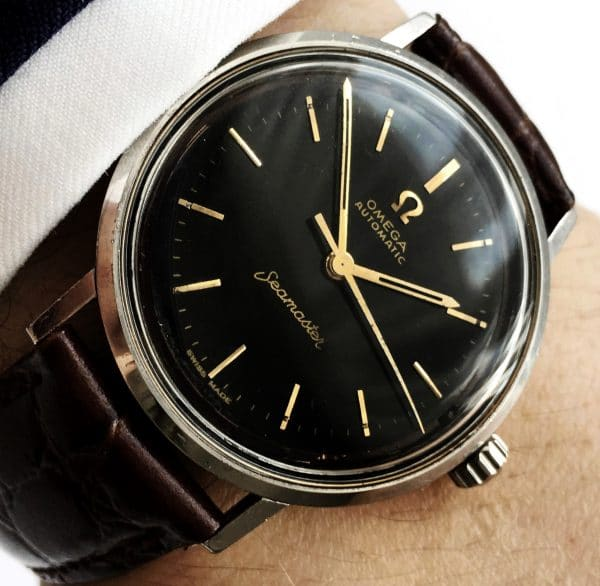 Wonderful Omega Seamaster Automatic 34mm Vintage black dial