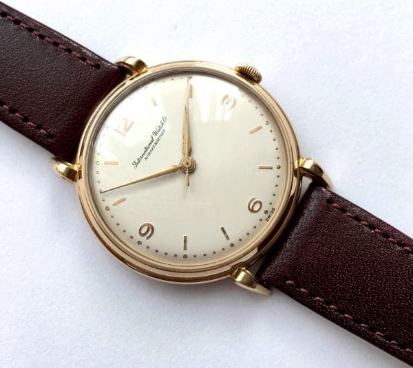 Early 36mm Vintage IWC Sold Gold Explorer Dial