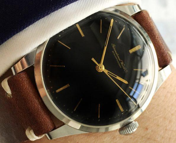 Refurbished gilt black dial IWC cal 89