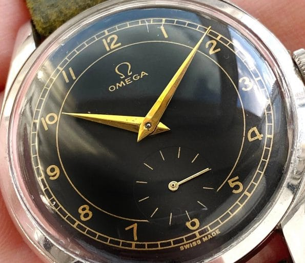 Vintage Omega Oversize Restored Sector Dial Black Jumbo