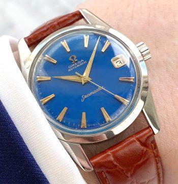Omega Seamaster Automatik Vintage Spezialanfertigung blaues restauriertes ZIffernblatt