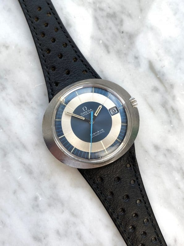 Omega Geneve Dynamic Automatic Blue White Two Tone Dial