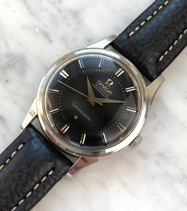 Unpolished Vintage Omega Constellation Pie Pan Automatic Black Restored Dial