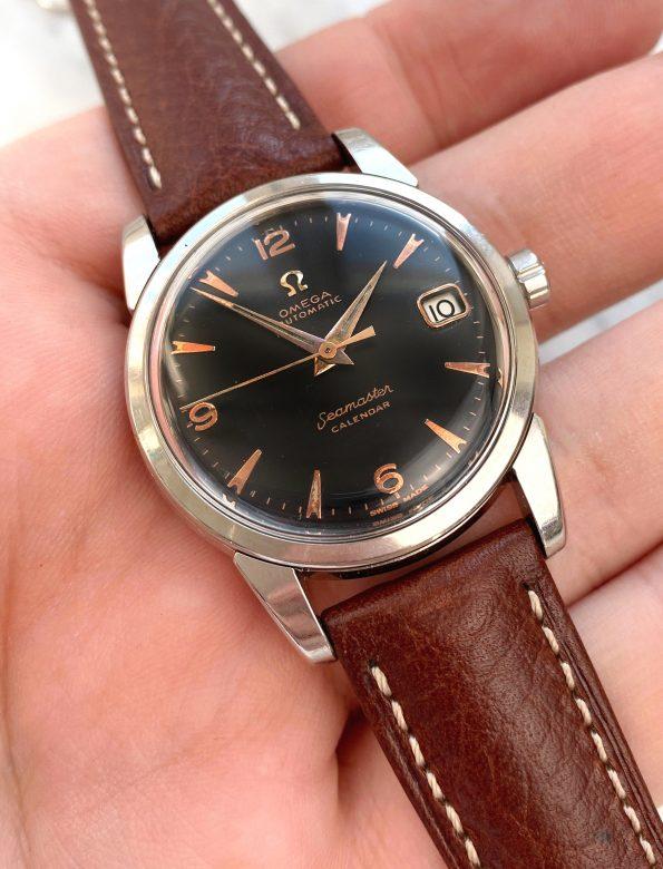 Omega Seamaster Calendar Automatic Vintage Black Restored Dial