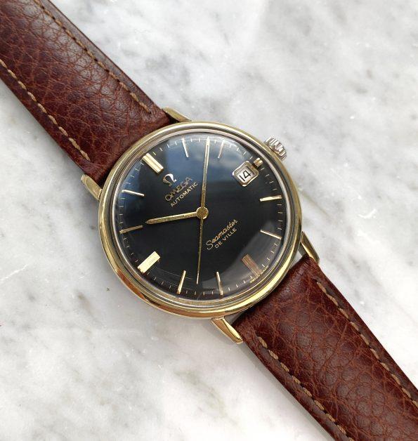 Omega Seamaster De Ville Automatic Vintage Black Restored Dial