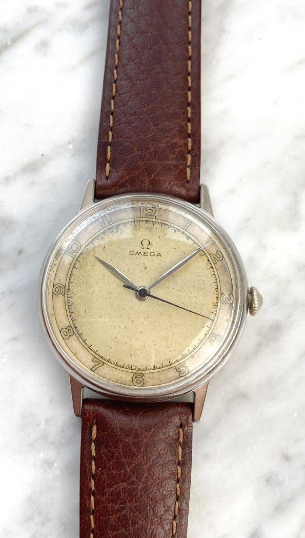 White 30t2 Vintage Omega Handwinding Original Dial