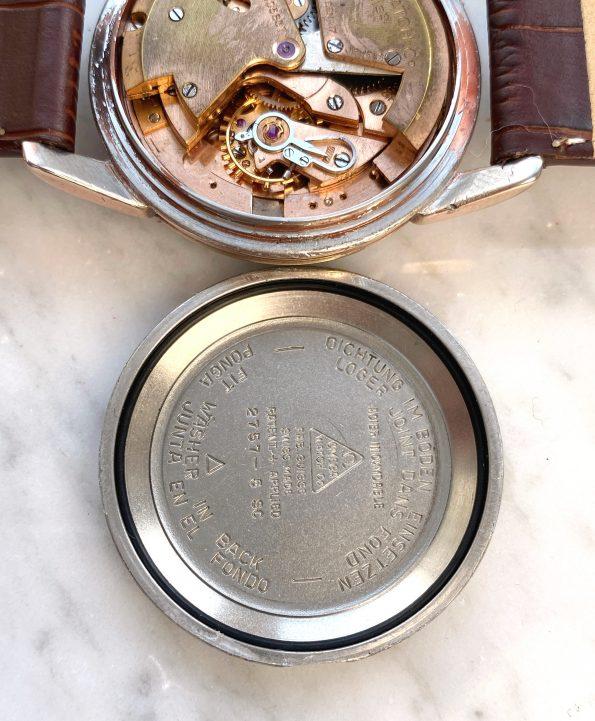 Beautiful Omega Seamaster Calendar Automatic Vintage Rare Honeycomb Dial Fat Lugs Rose Plated