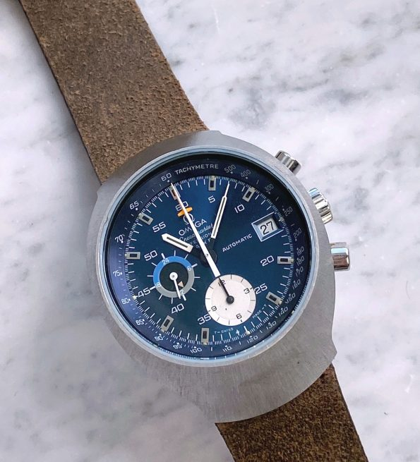 Omega Seamaster Speedmaster Mark 3 Blue Dial Automatic Jedi Chronograph 176.002 176.007