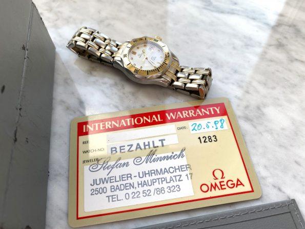 Omega Seamaster 300 Professional Ladies Quartz Two Tone White Dial Full Set