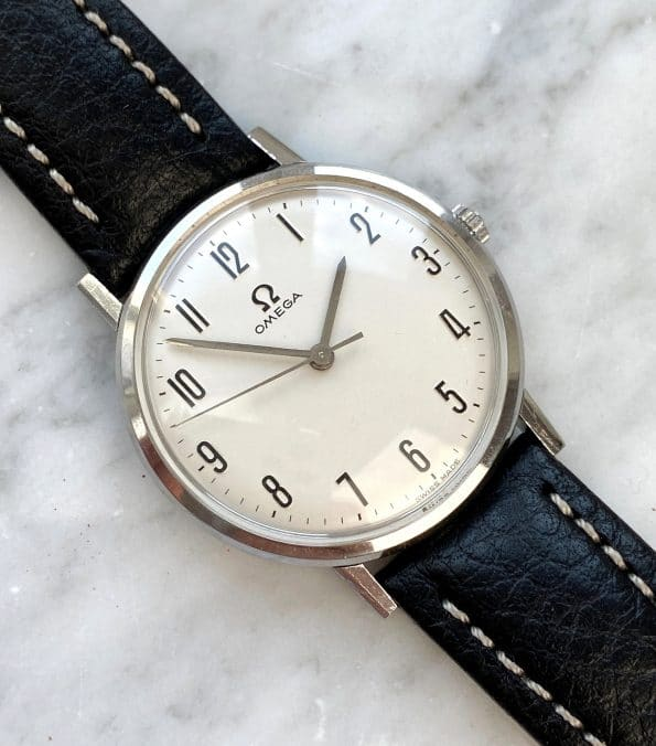 Serviced Vintage Omega Genève with rare Numerals Dial